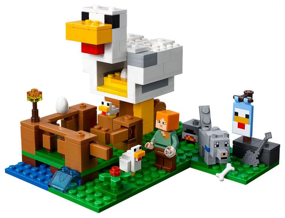 lego minecraft 21140 pas cher le poulailler. Black Bedroom Furniture Sets. Home Design Ideas