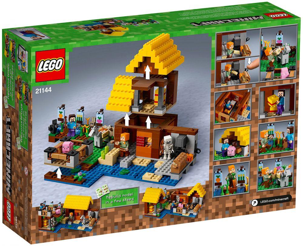 lego minecraft 21144 pas cher la ferme. Black Bedroom Furniture Sets. Home Design Ideas