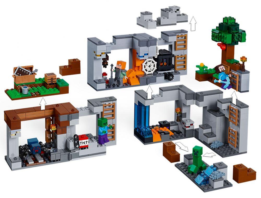 Lego Minecraft 21147 la roche aventures construction figurines