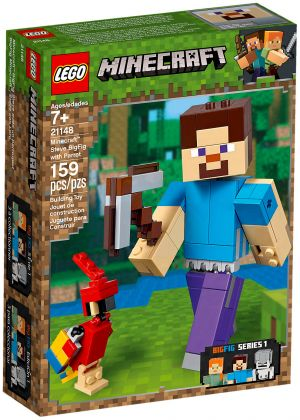 LEGO Minecraft 21148 Bigfigurine Minecraft Steve et son perroquet