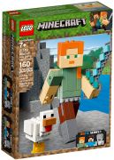 LEGO Minecraft 21149 Bigfigurine Minecraft Alex et son poulet
