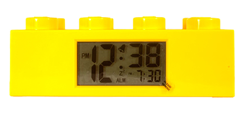 lego horloges r veils 2856238 pas cher r veil brique jaune. Black Bedroom Furniture Sets. Home Design Ideas