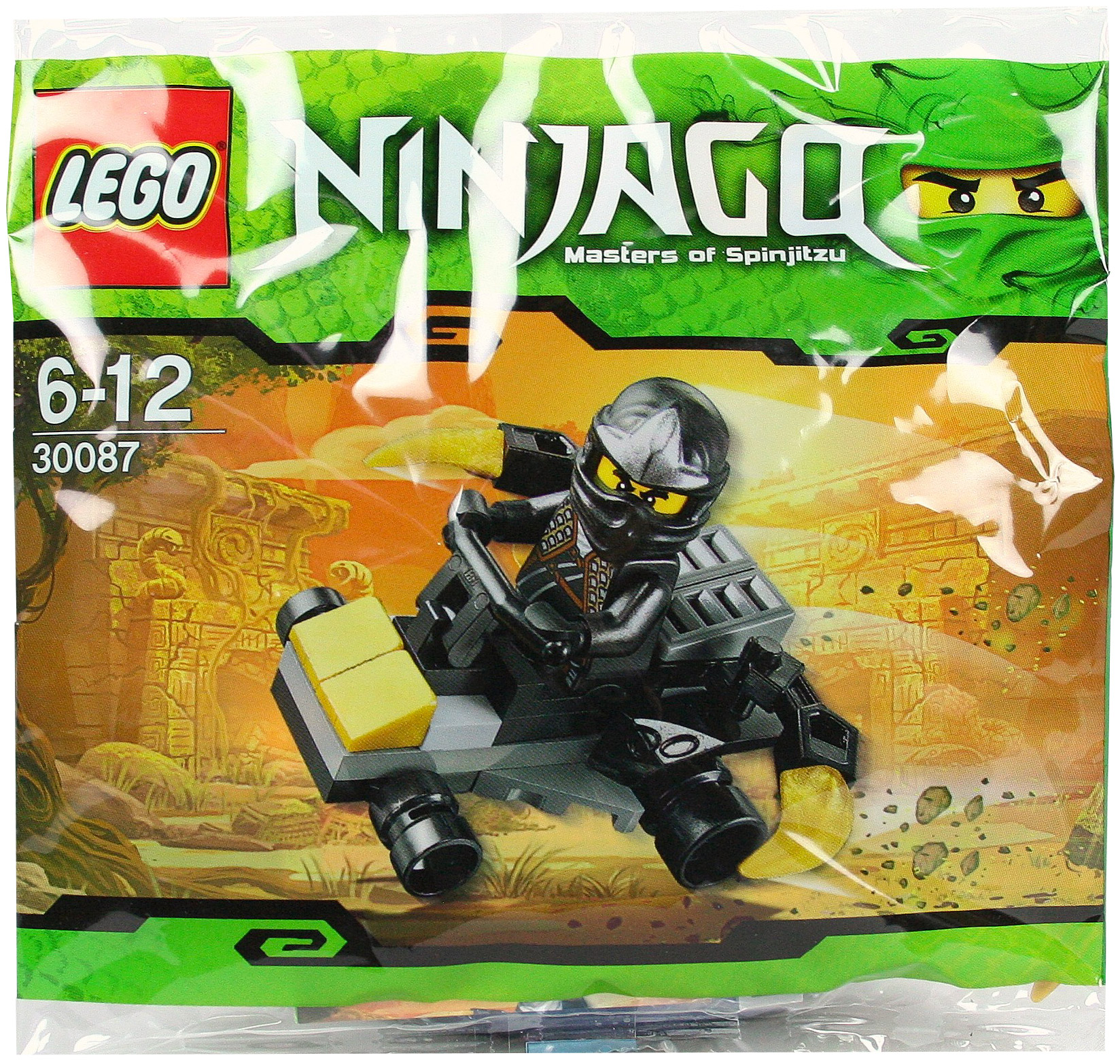 lego ninjago 30087 pas cher cole zx car polybag. Black Bedroom Furniture Sets. Home Design Ideas