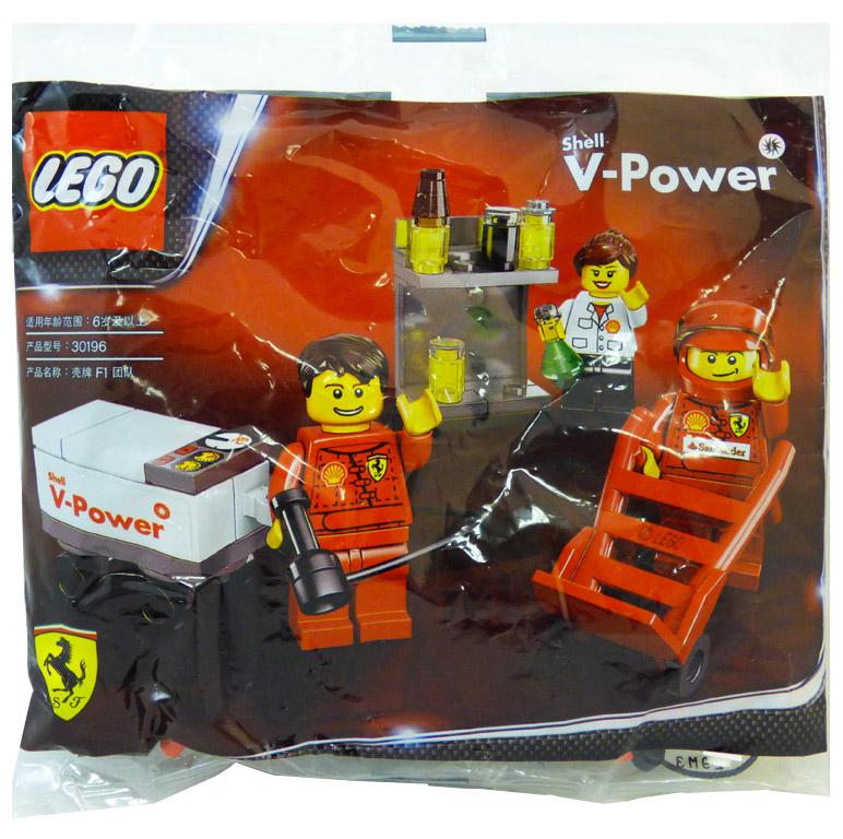 lego racers 30196 pas cher ferrari pit crew polybag. Black Bedroom Furniture Sets. Home Design Ideas