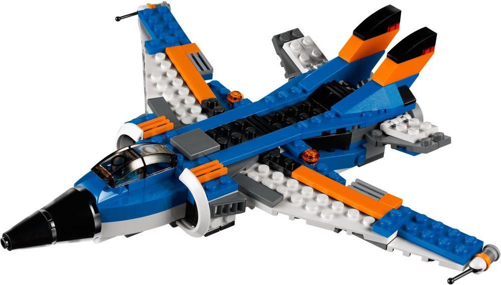 Lego creator 31008 pas cher l 39 avion de chasse - Avion de chasse en lego ...