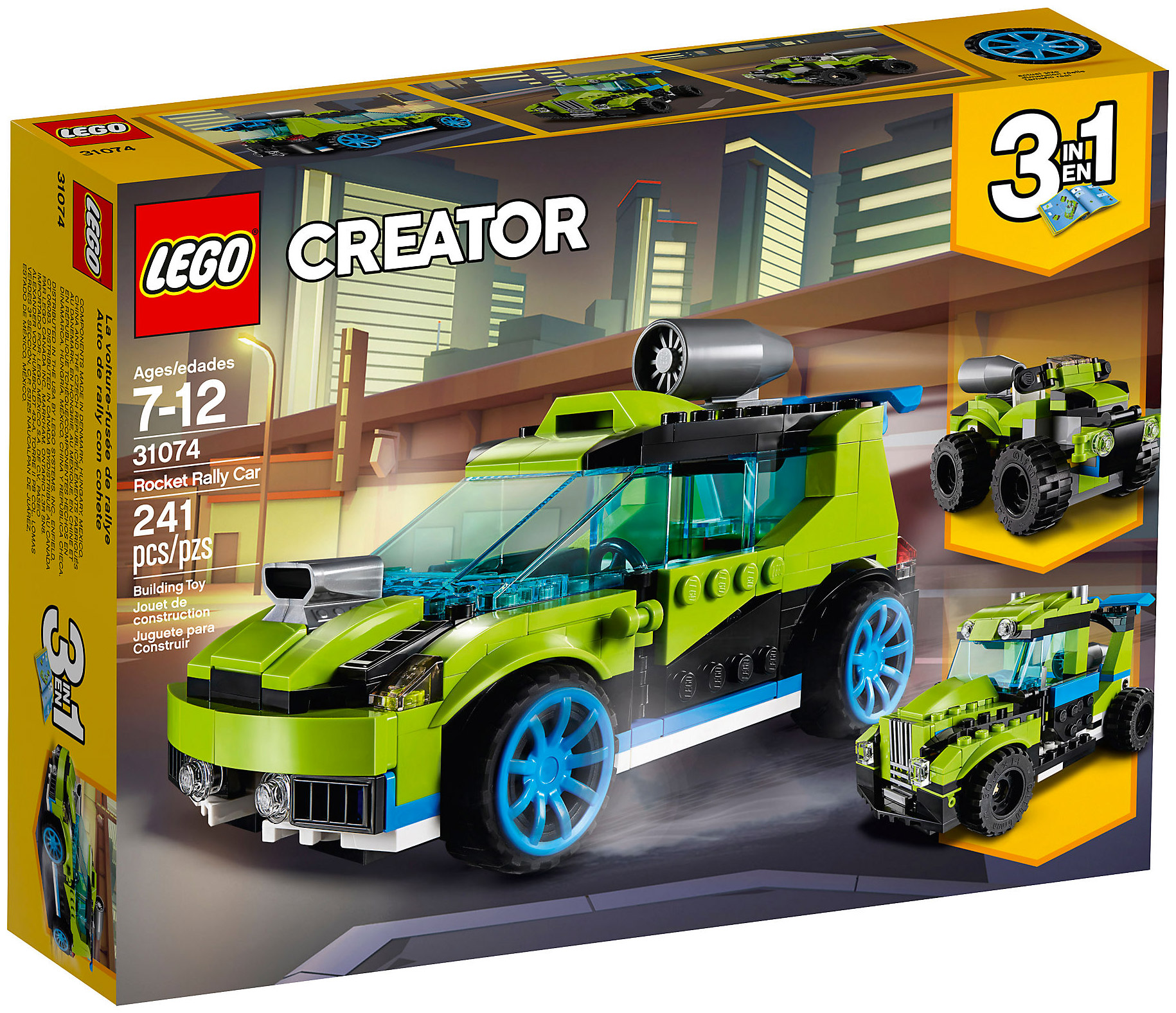 lego creator 31074 pas cher la voiture de rallye. Black Bedroom Furniture Sets. Home Design Ideas