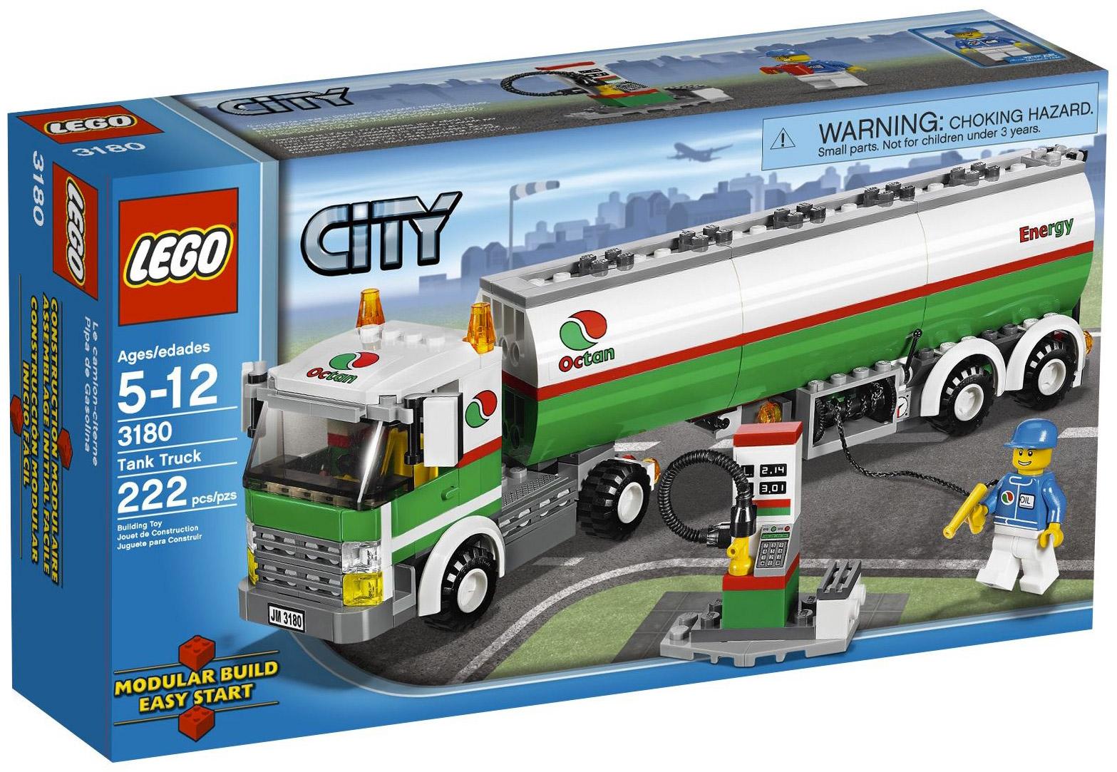 Lego city 3180 pas cher le camion citerne - Lego city camion police ...