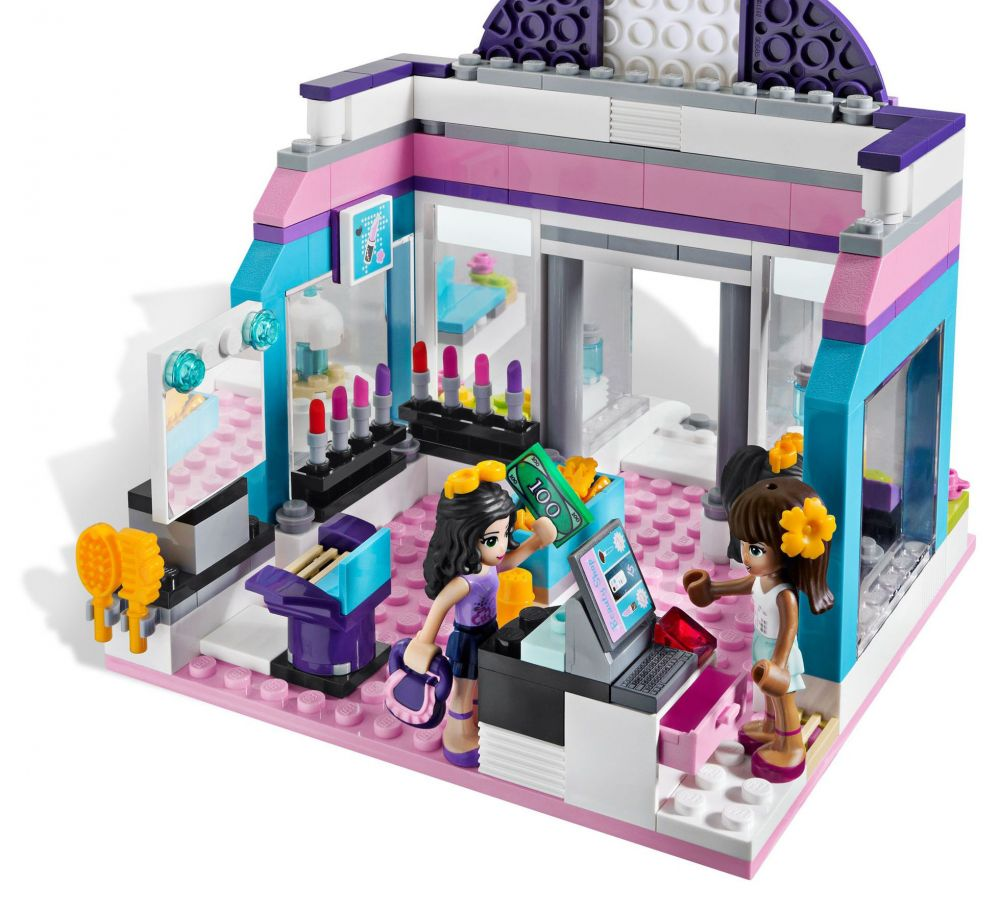 Lego friends 3187 pas cher le salon de beaut for Lego friends salon de coiffure