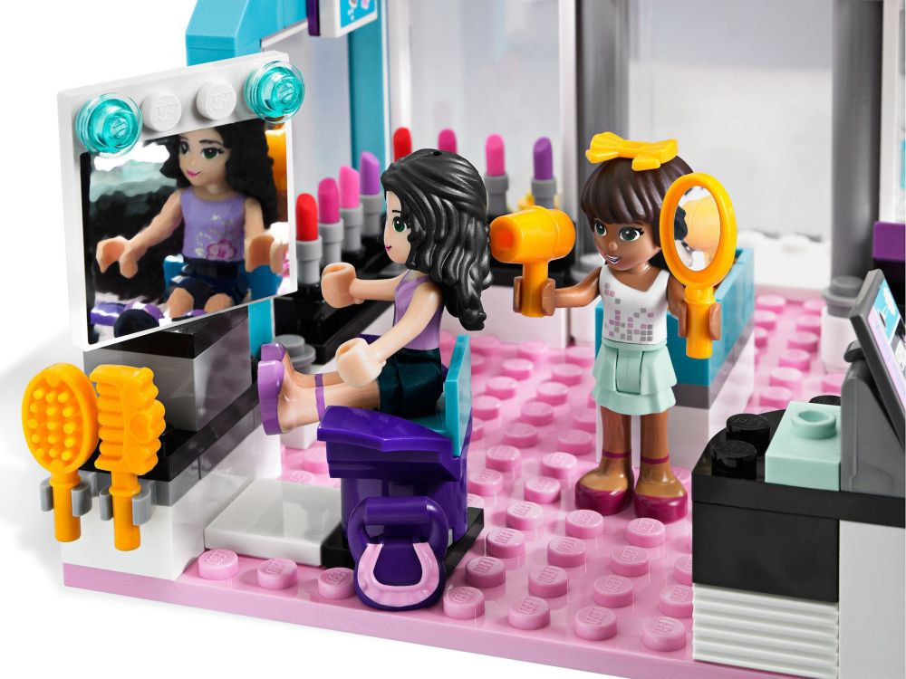Lego friends 3187 pas cher le salon de beaut - Salon de coiffure lego friends ...