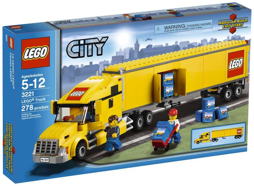 lego city 3221 pas cher le camion lego city. Black Bedroom Furniture Sets. Home Design Ideas