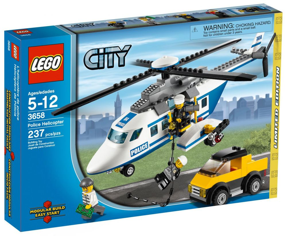 Lego L'hélicoptère De 3658 Police City PuXkOiZ