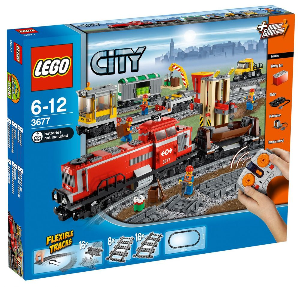 lego city 3677 pas cher train de marchandises rouge. Black Bedroom Furniture Sets. Home Design Ideas