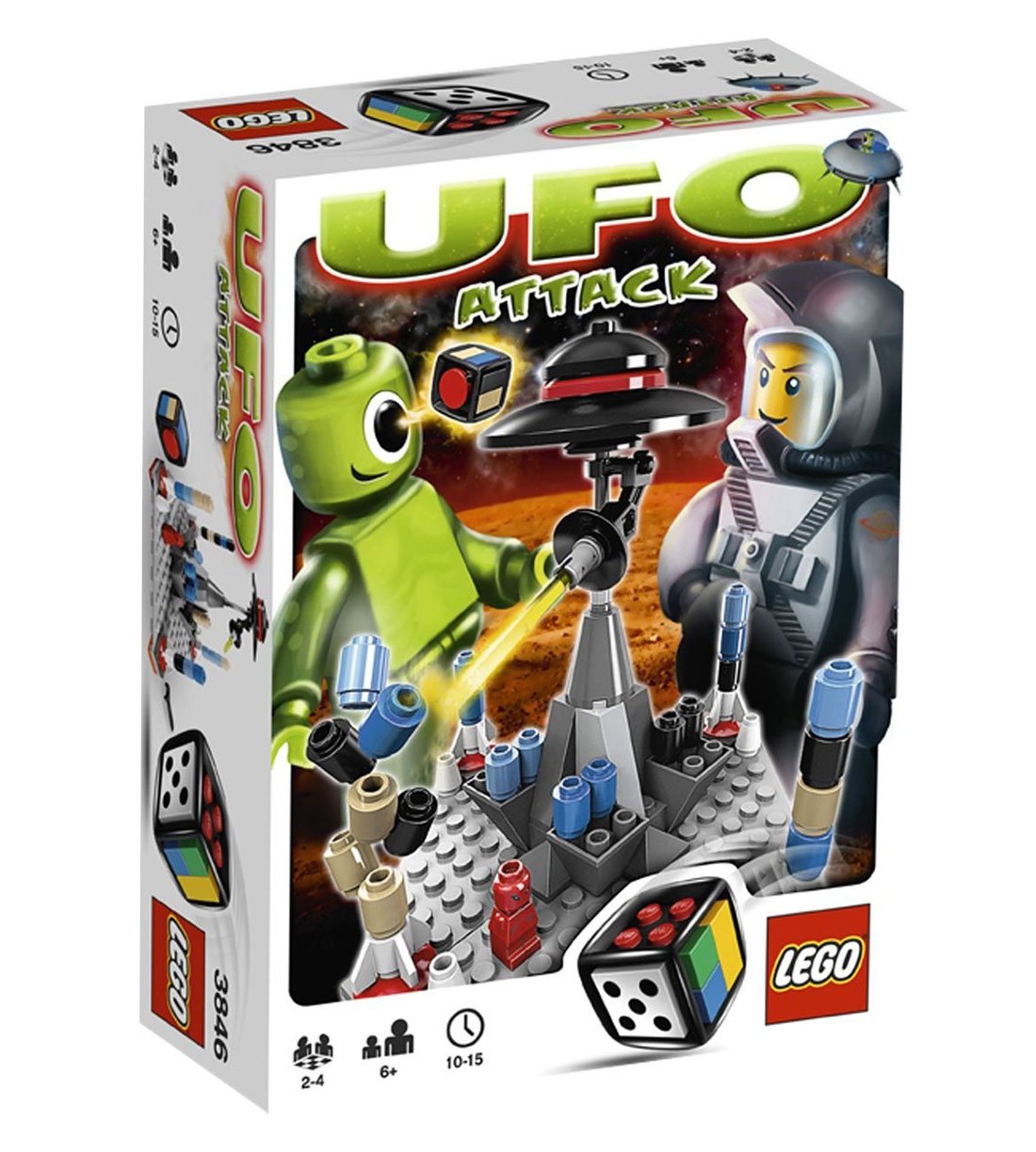 lego jeux de soci t 3846 pas cher ufo attack. Black Bedroom Furniture Sets. Home Design Ideas