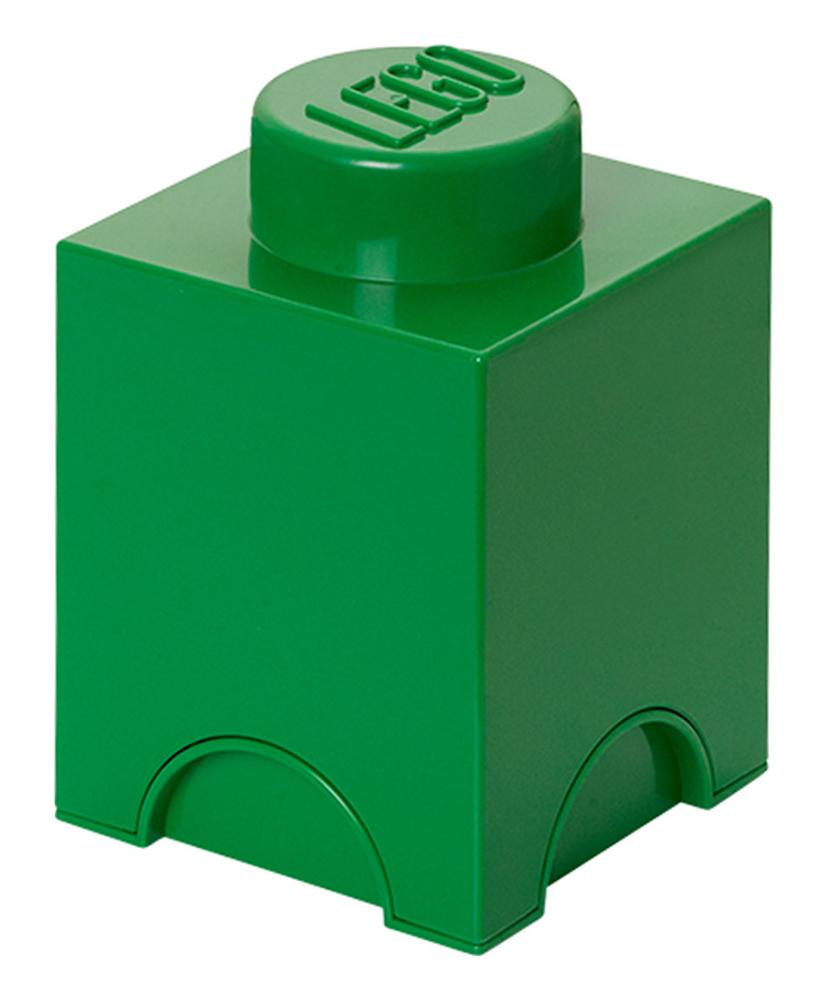 Lego rangement 40011734 pas cher brique de rangement verte 1 plot - Brique rangement lego ...