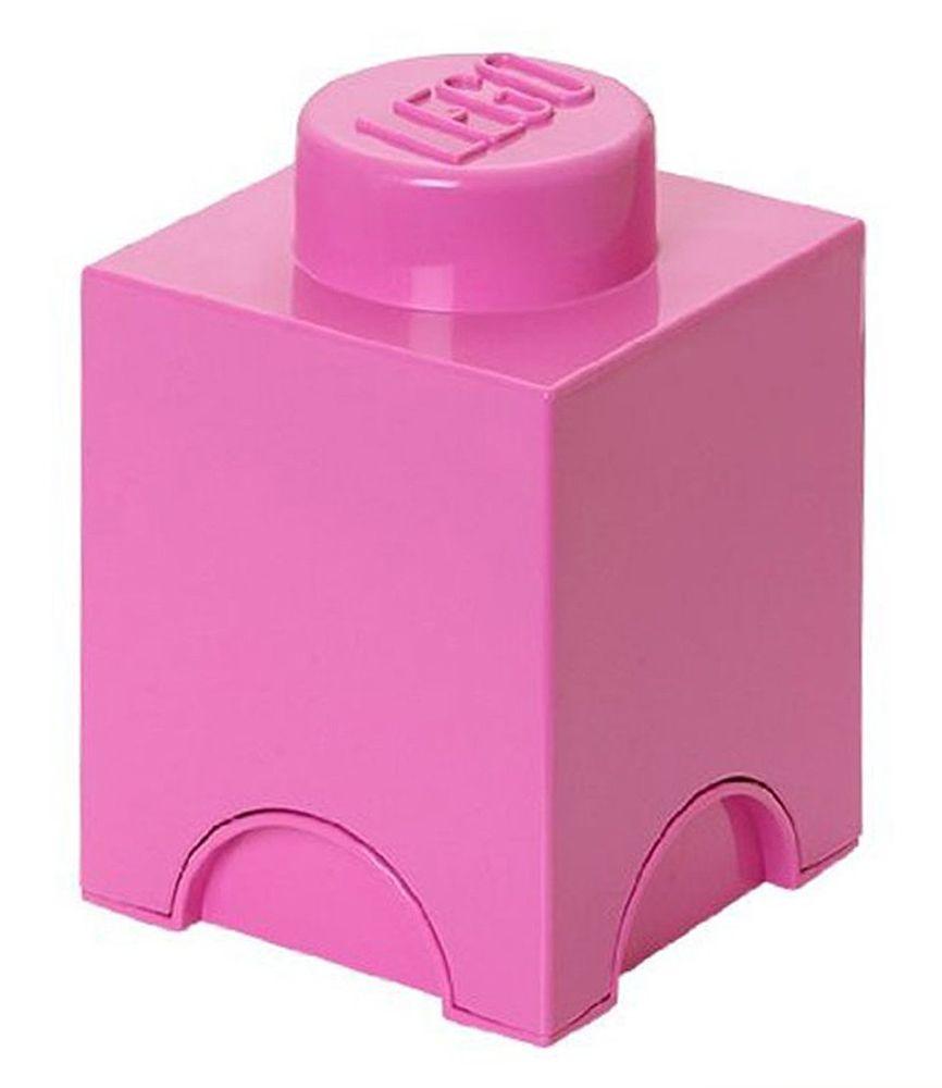 Lego rangement 40011739 pas cher brique de rangement rose 1 plot - Brique de rangement lego ...