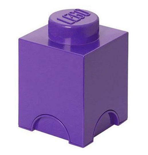 Lego rangement 40011743 pas cher brique de rangement friends violet 1 plot - Brique rangement lego ...