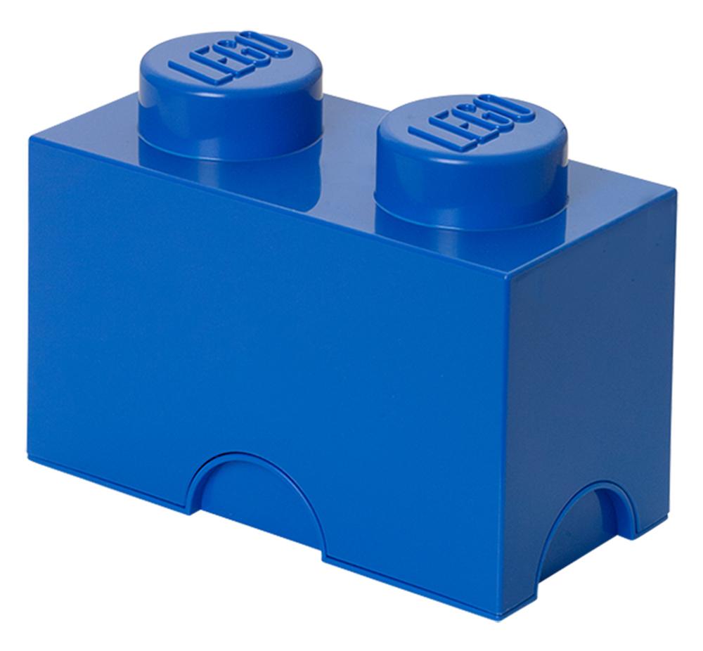 Lego rangement 40021731 pas cher brique de rangement bleue 2 plots - Brique rangement lego ...