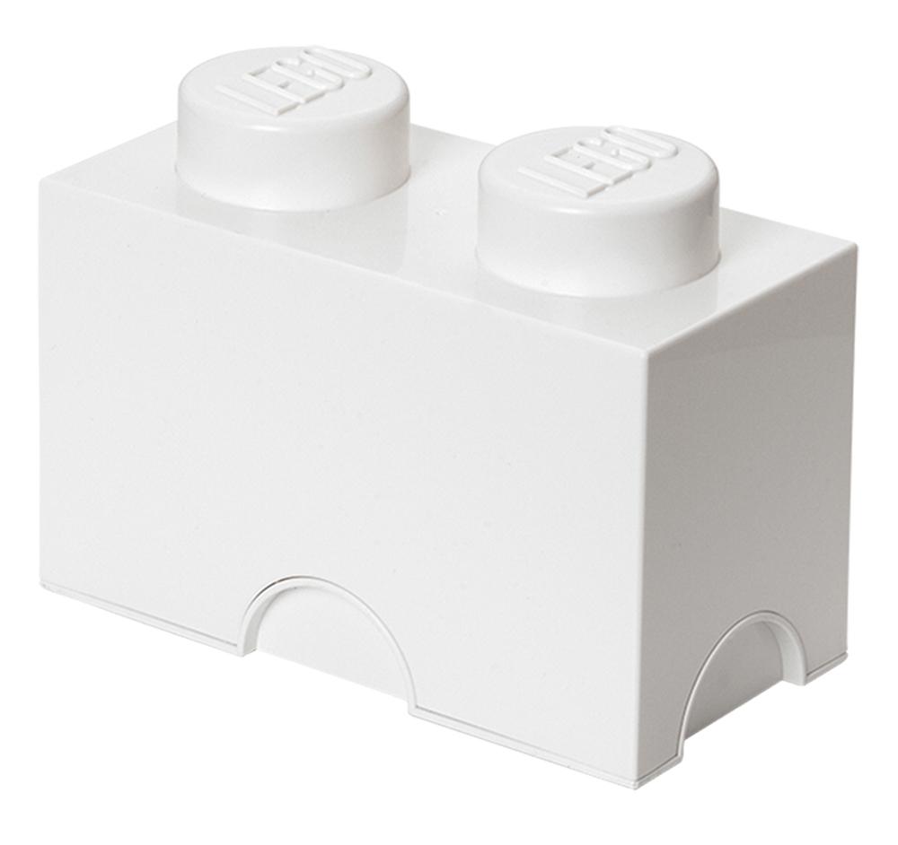 Lego rangement 40021735 pas cher brique de rangement blanche 2 plots - Brique rangement lego ...