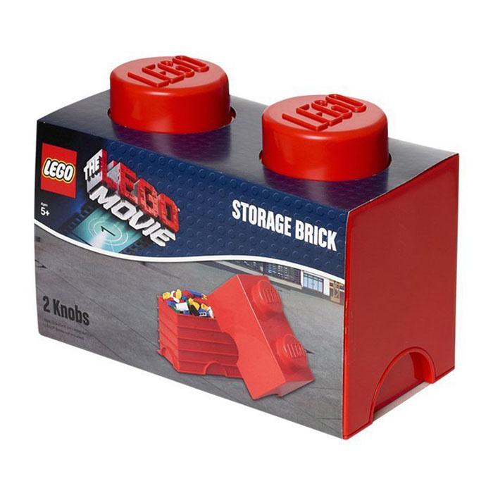 Lego rangement 40021751 pas cher brique de rangement lego movie rouge 2 plots - Brique rangement lego ...