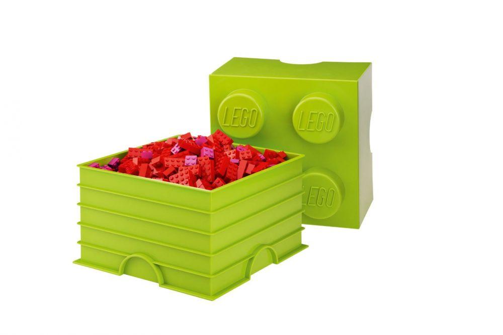 Lego rangement 40031220 pas cher brique de rangement verte claire 4 plots - Brique rangement lego ...