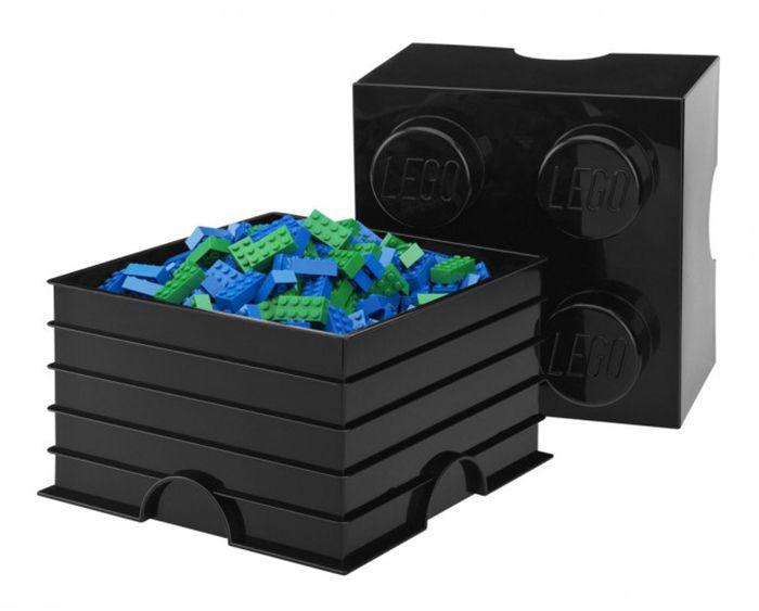 Lego rangement 40031733 pas cher brique de rangement noire 4 plots - Brique de rangement lego ...