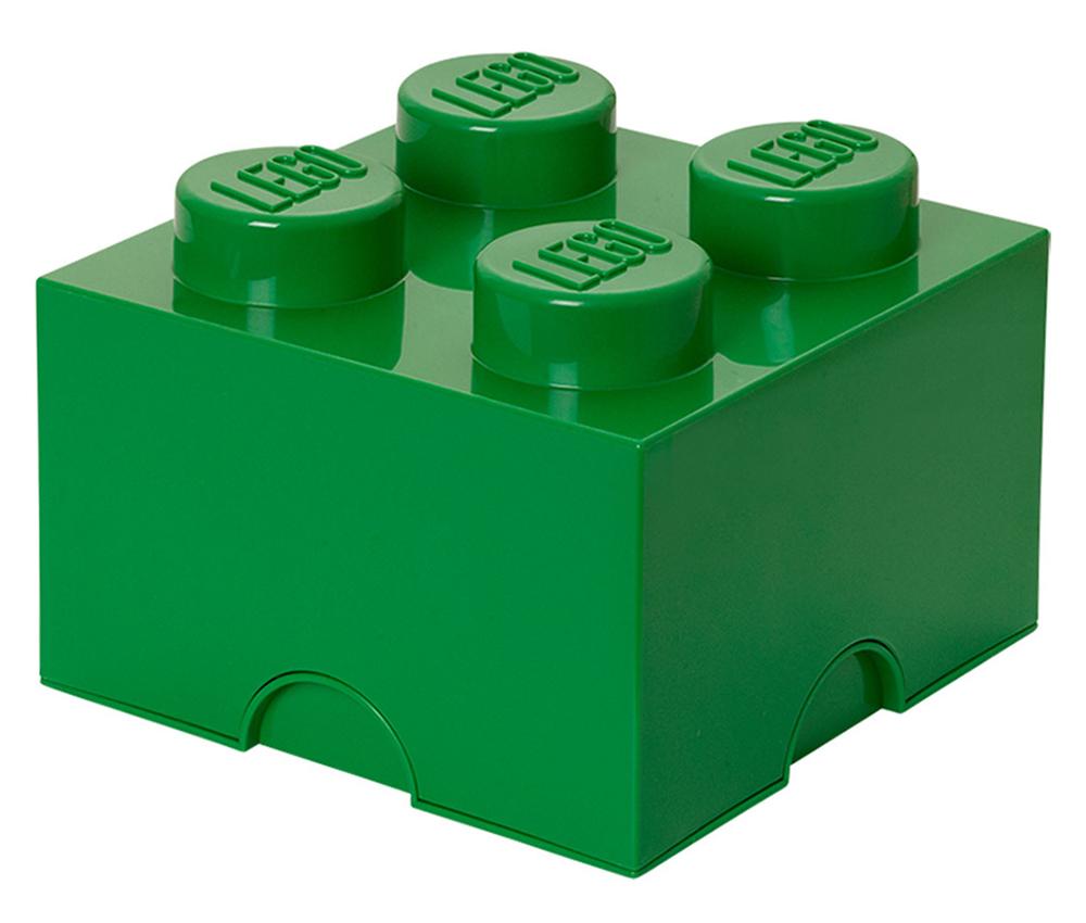 Lego rangement 40031734 pas cher brique de rangement verte 4 plots - Brique rangement lego ...
