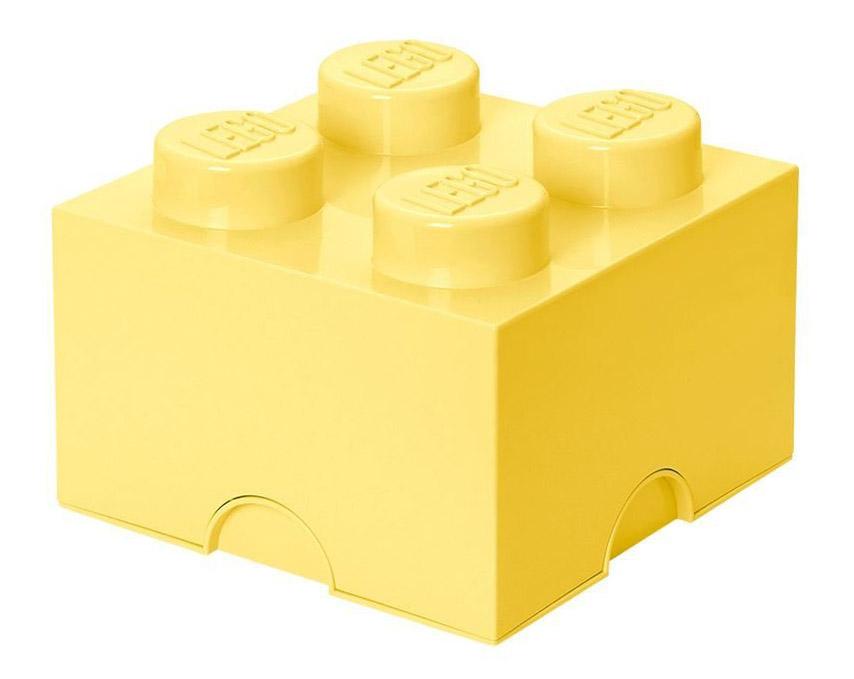 Lego rangement 40031741 pas cher brique de rangement jaune claire 4 plots - Brique rangement lego ...