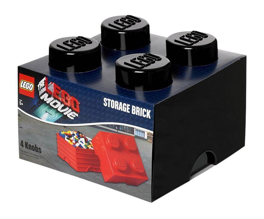 Lego rangement 40031750 pas cher brique de rangement lego movie noire 4 plots - Brique rangement lego ...