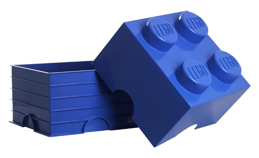 Lego rangement 40031752 pas cher brique de rangement lego movie bleue 4 plots - Brique rangement lego ...