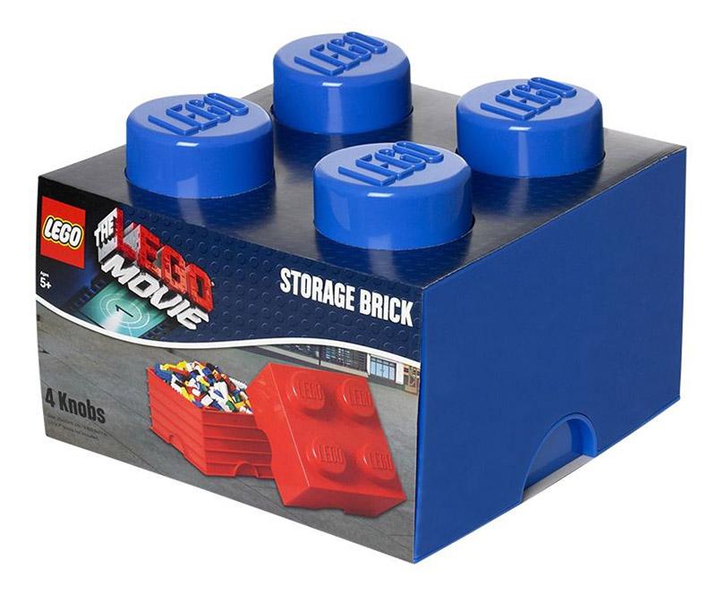 Lego rangement 40031752 pas cher brique de rangement lego movie bleue 4 plots - Brique de rangement lego ...