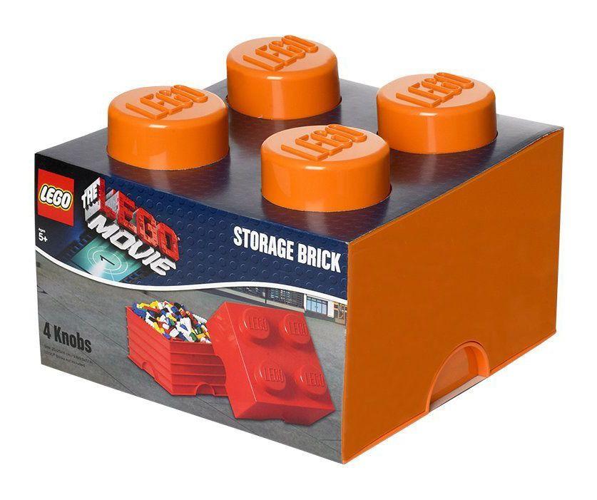 Lego rangement 40031753 pas cher brique de rangement lego movie orange 4 plots - Brique de rangement lego ...