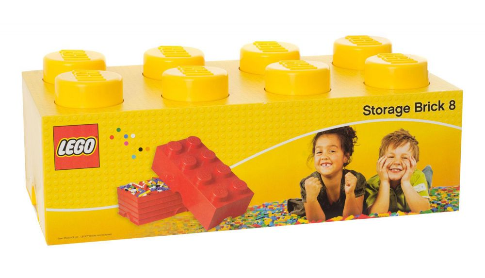 Lego jaune publicitaire Brique 2x4x3 Fabrik 2016 NEUF!!!