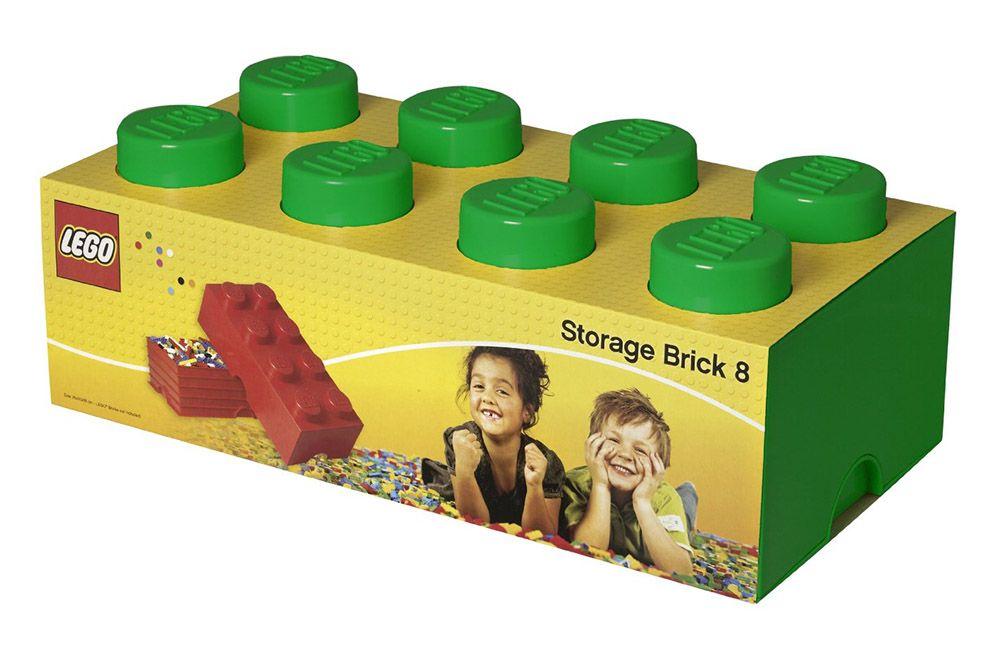 LEGO Rangement 40041734 pas cher - Brique de rangement verte 8 Plots