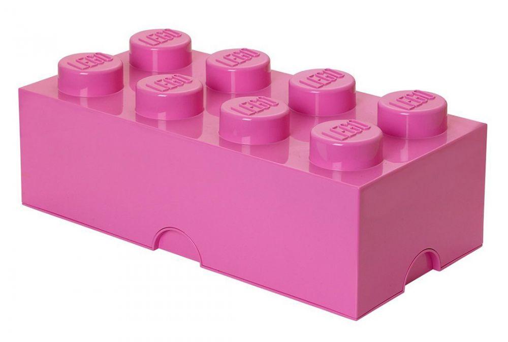Lego rangement 40041739 pas cher brique de rangement rose 8 plots - Brique rangement lego ...