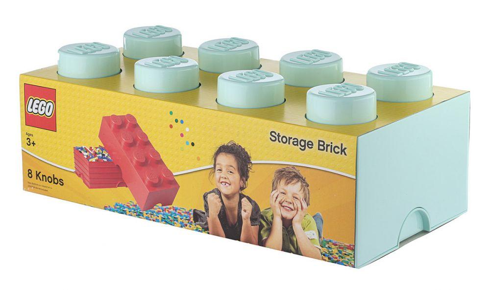 LEGO Rangement 40041742 pas cher, Brique de rangement bleue aqua 8 Plots