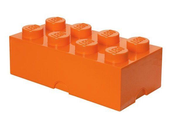 Lego rangement 40041753 pas cher brique de rangement orange 8 plots - Brique rangement lego ...