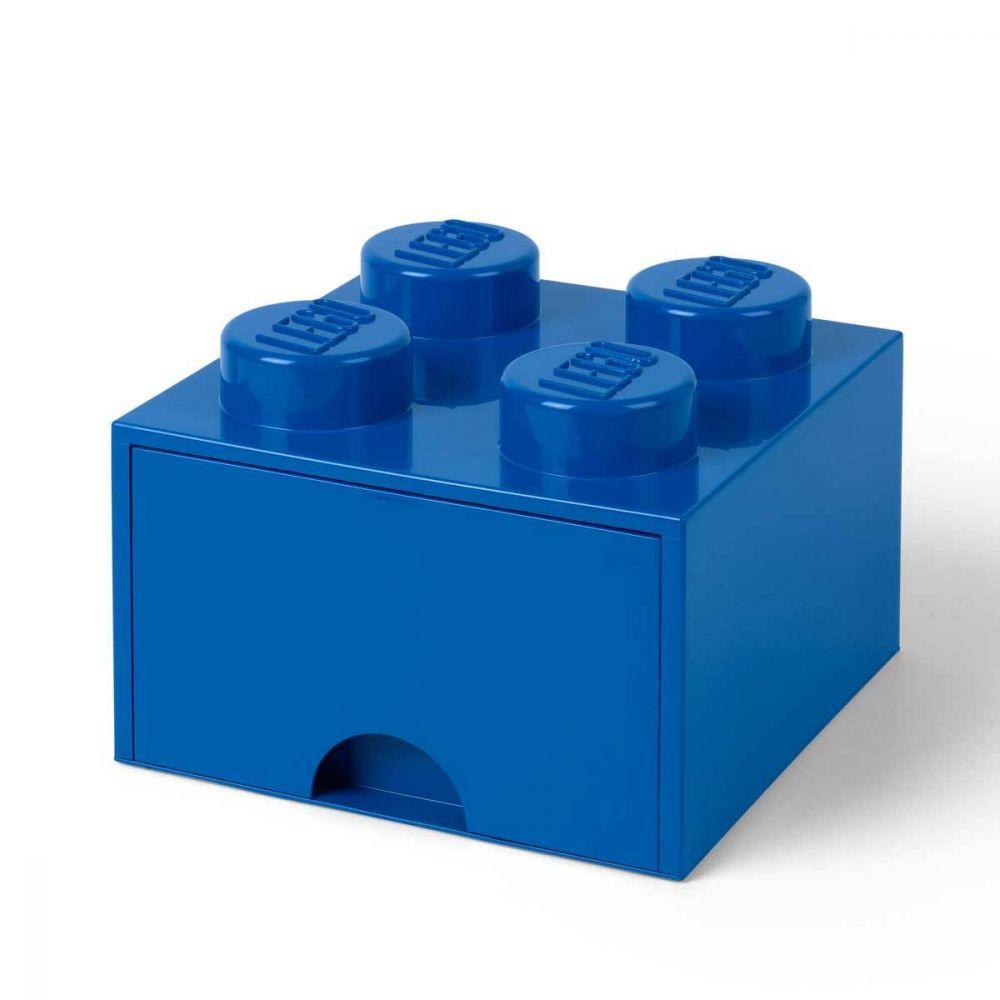 LEGO Rangement 40051731 pas cher, Brique de rangement empilable avec tiroir 4 plots LEGO bleu