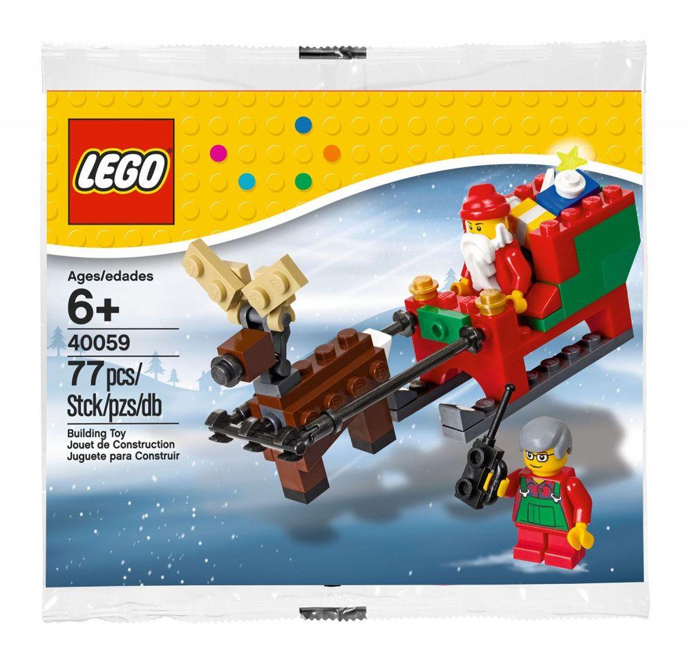 Pere Noel Lego LEGO Saisonnier 40059 pas cher, Le traîneau du Père Noël
