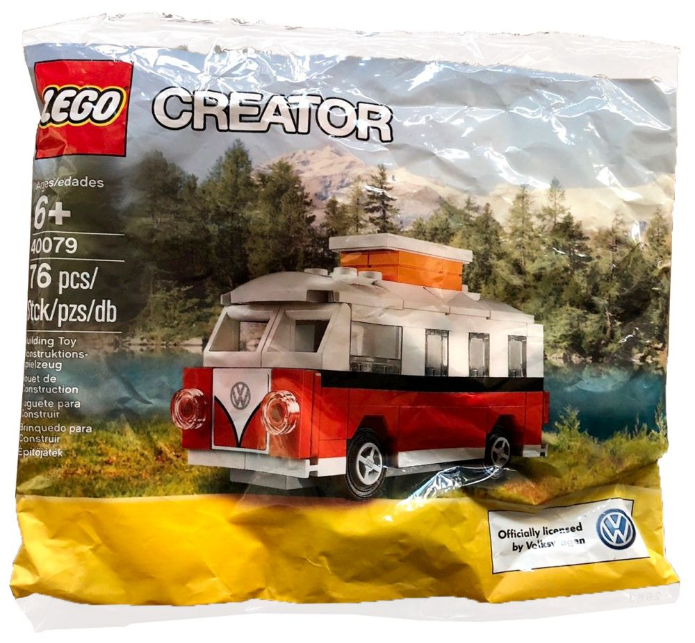 Lego Creator 40079 Pas Cher Mini Camping Car Volkswagen