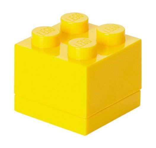 lego rangement 40111732 pas cher lego mini box jaune 4 plots