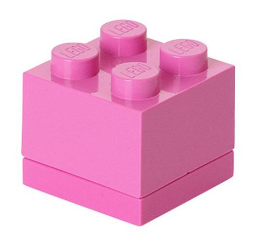 Lego rangement 40111739 pas cher lego mini box rose 4 plots - Caisse de rangement lego ...