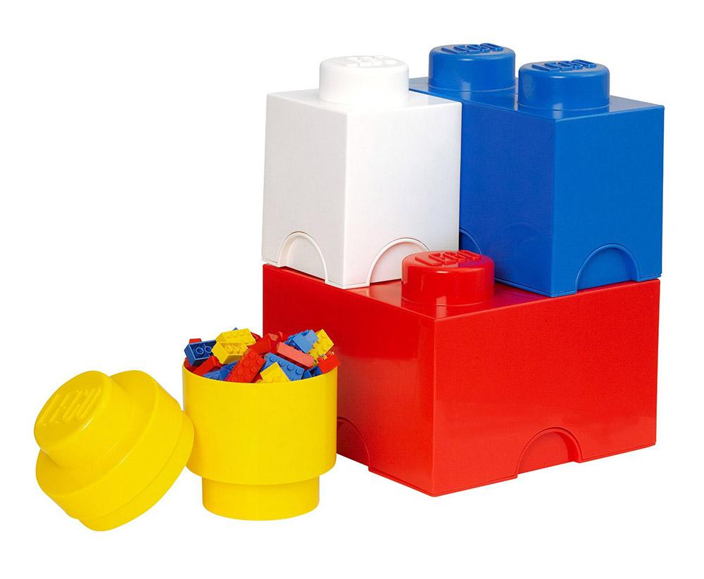 Lego rangement 40150001 pas cher brique multipack 4 rangements - Brique rangement lego ...