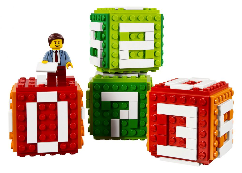 lego objets divers 40172 pas cher calendrier en briques lego. Black Bedroom Furniture Sets. Home Design Ideas