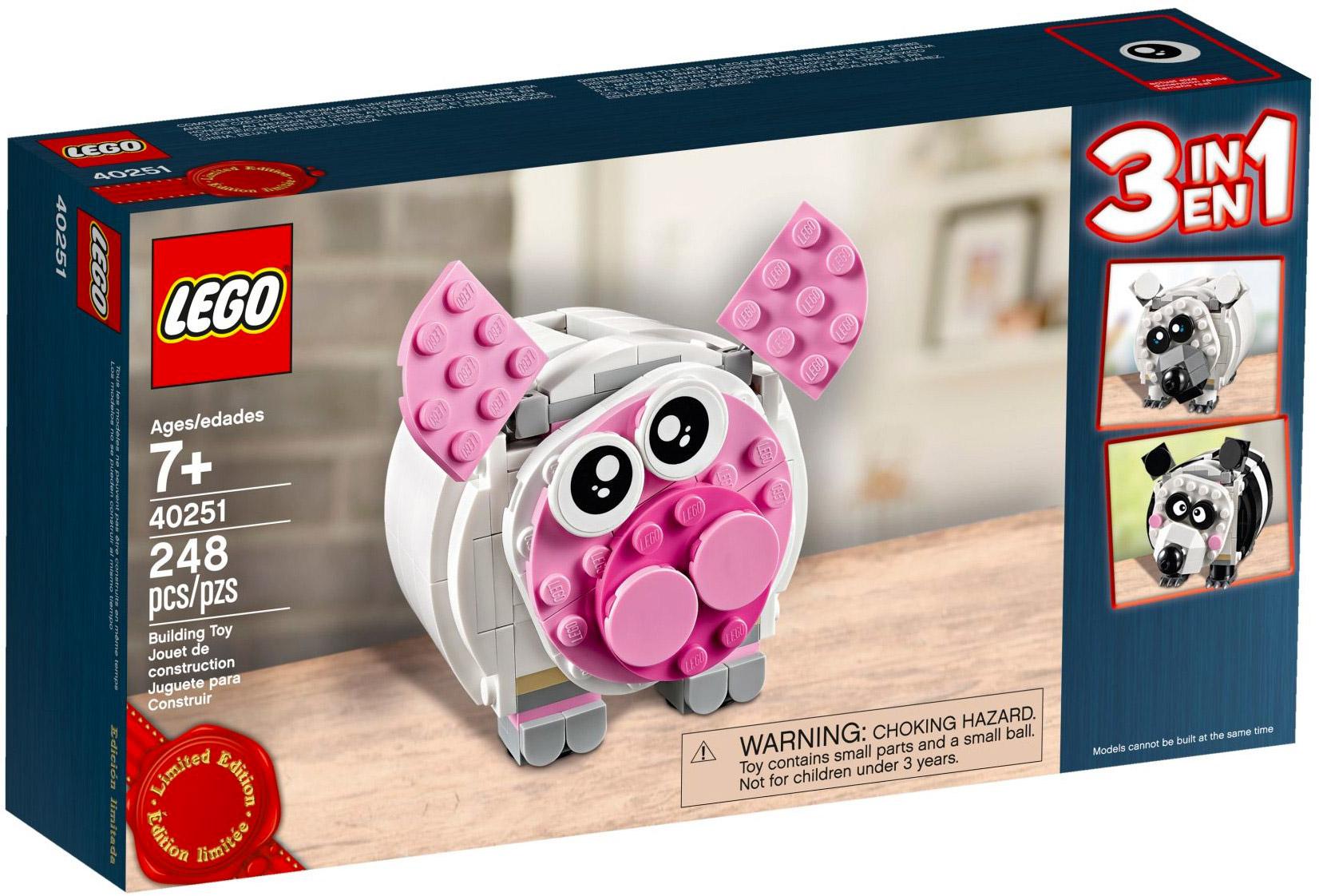 lego creator 40251 pas cher mini tirelire cochon. Black Bedroom Furniture Sets. Home Design Ideas