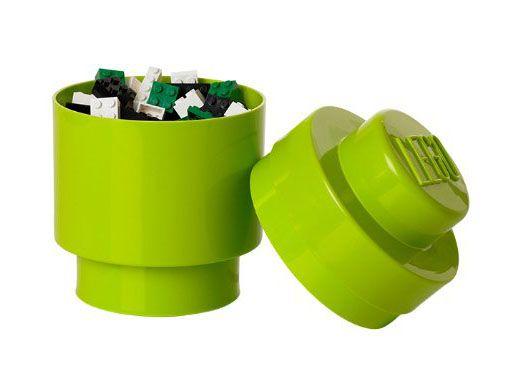 Lego rangement 40301220 pas cher boite ronde vert clair - Boite rangement lego pas cher ...