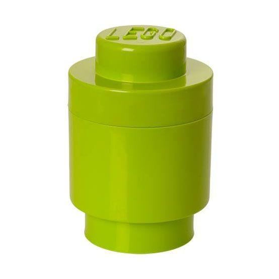Lego rangement 40301220 pas cher boite ronde vert clair - Boite de rangement lego pas cher ...