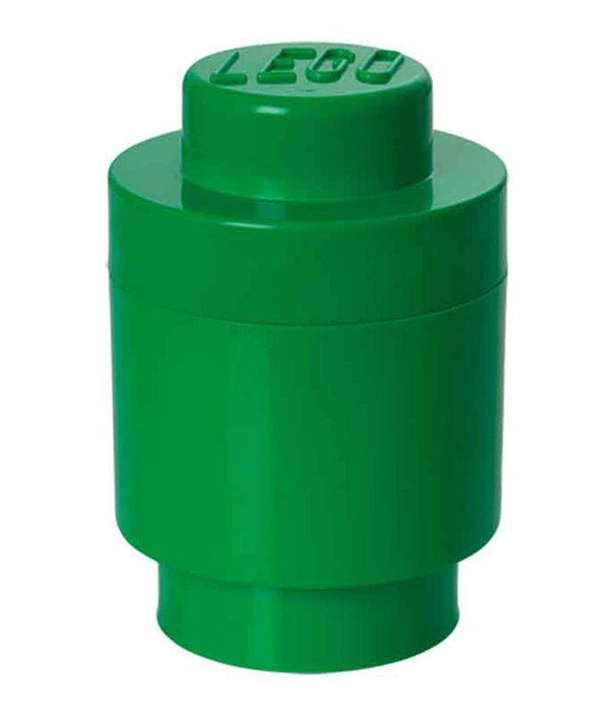 LEGO Rangement 40301734 Boite Ronde Verte 1 Plot