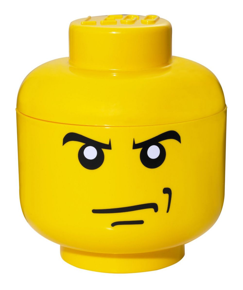 Lego rangement 40310107 pas cher t te de rangement gar on f ch taille s - Tete de rangement lego ...