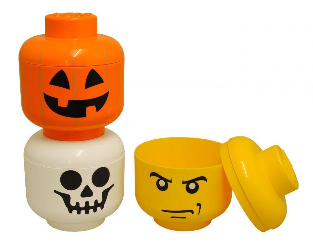 Lego rangement 40310109 pas cher t te de rangement squelette taille s - Deguisement tete de lego ...