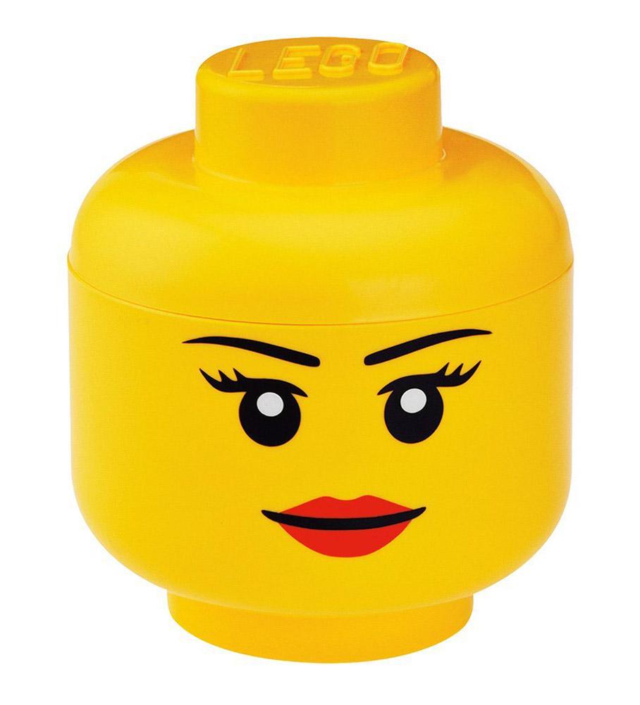 Lego rangement 40311222 pas cher t te de rangement fille taille s - Tete de rangement lego ...